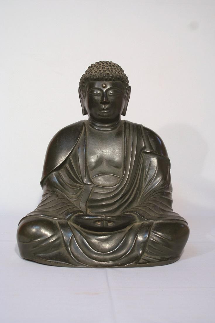 重要文化財(彫刻) 銅造阿弥陀如来坐像 ■写真提供:大正大学副島研究室