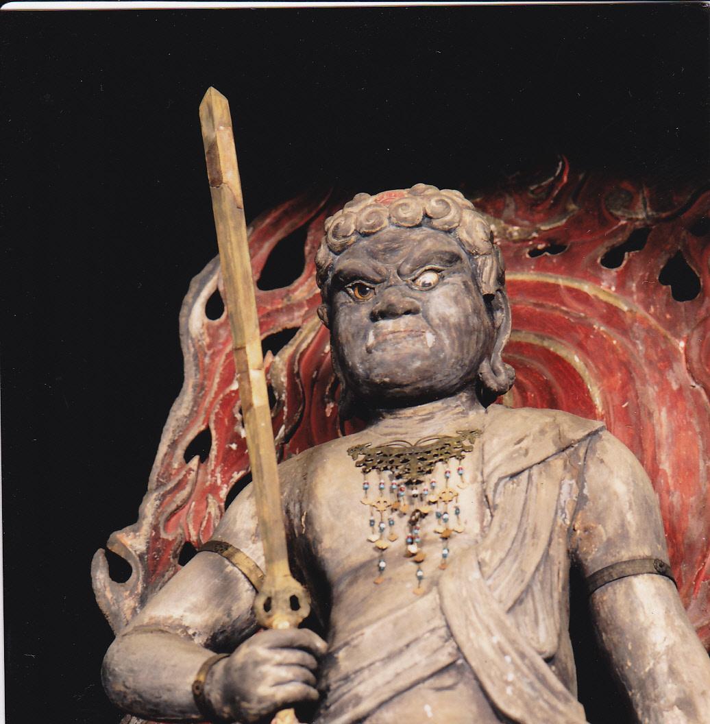 都指定有形文化財(彫刻) 木造不動明王及び二童子立像(不動堂安置) 「不動明王像」