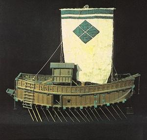 都指定有形文化財(工芸品) 木製軍船ひな形 「安宅船」