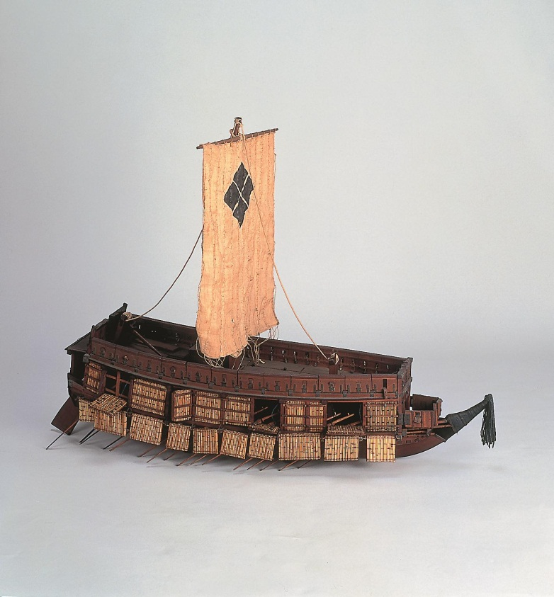 都指定有形文化財(工芸品) 木製軍船ひな形 「関船」