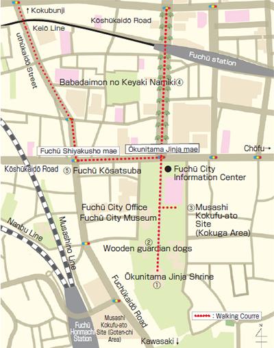 Okunitamajinja Honden Main Hall Of Okunitama Shrine Fuchu - Fuchu map